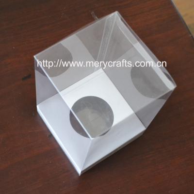 transparent 9*9*9cm pvc box souvenir gift plastic box
