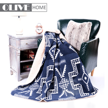 China Wholesale Soft Double Layer Bonded Printed Sherpa Thick Throw Fleece Blanket