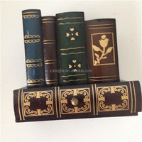 wooden decoration fake book with small drawer