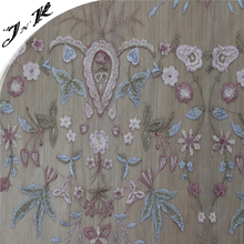 70321 New style 100% Polyester fabric mesh embroidery design for lady dress
