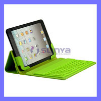 Green Black Red ODM Color Smart Fold Bluetooth Leather Keyboard for iPad Mini