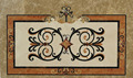 Beautiful decorative for home and hotel chocolate brown medallion tile