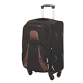 28 inch black soft polyester eminent heavy duty luggage bag for traveling