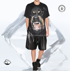 dog pattern 3d t-shirt 100%cotton OEM china alibaba online shopping wholesale t shirt for men