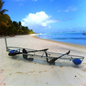 China leisure life crystal clear sea transparent kayak
