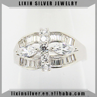 LIXIN 925 silver ring,solitaire ring,baguette ring (YCX613-37IS)