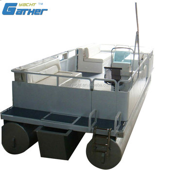 Gather Made In China High Precision Alibaba Suppliers 5.9m aluminum pontoon boat GS194