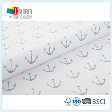 Anchors Printing Simple Design Printed Gift Wrapping Paper Wholesale Packaging Paper