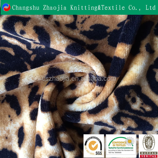china knitting manufacturer wholesale oeko-tex quality Printed spun polyester cotton feel fabric china sofa with spandex