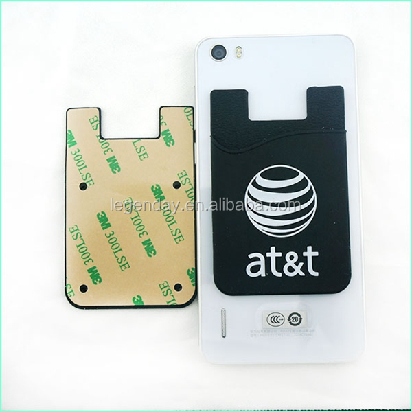 Wholesale Custom Silicone Sticky Cell Phone Case Card Holder