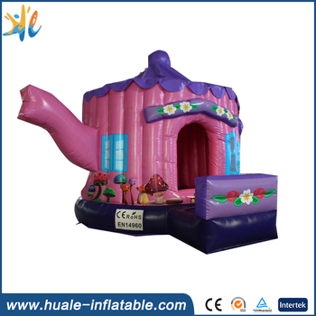Huale teapot shape inflatable bouncy castle/used commercial bounce houses for sale
