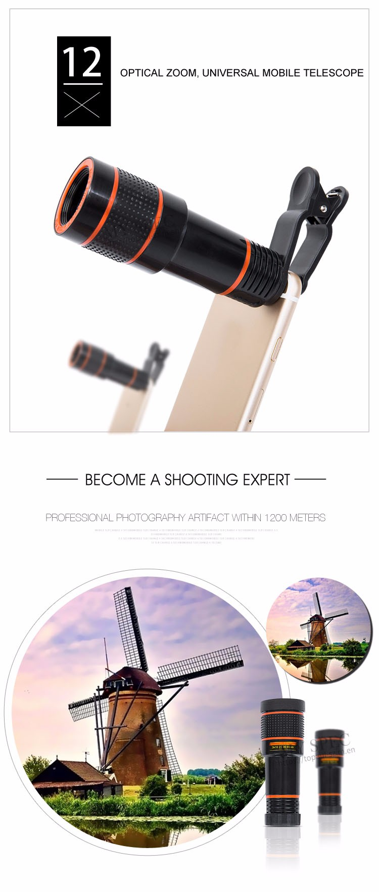 Gadgets 2017 newest phone camera lens zoom travel kit