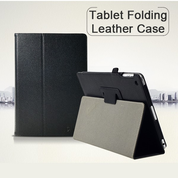 Factory Wholesale Book Style Flip Tablet Leather Covered Case for lenovo a5500