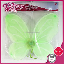 FW-1064 2015 New design Light Green Fairy princess wing with gilitter high quality &well selling for kids for girls