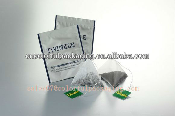 triangle tea bag/packing bags exporter/PE bag