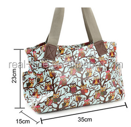 Print Designer Oilcloth Shoulder Bag Tote Shopper Canvas Strap Women Handbag