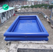 Hot sale outdoor commercial PVC giant swimming pools above ground for family