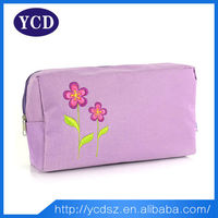 Fashionable 2015 purple polyester cosmetic bags & cases