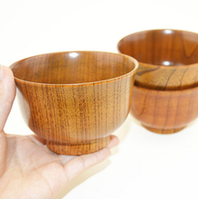 Natural Eco-friendly Jujube Bassie Japanese Style Wooden Bowls