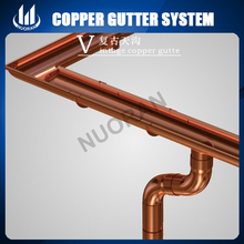 China Supplier Material Roofing 6Inch 7Inch 8Inch alcoa faux Copper System Images Rain Gutters