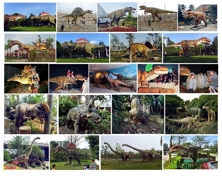 High simulation artificial animatronic jurassic wild animal