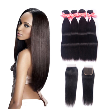 Free Sample Glade 8A Brazilian Virgin Hair Weave Natural Straight Hair Bundles Cuticle Aligned Human Hair Extension