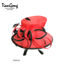 Wholesale Elegant Sinamay Fabric women church hats