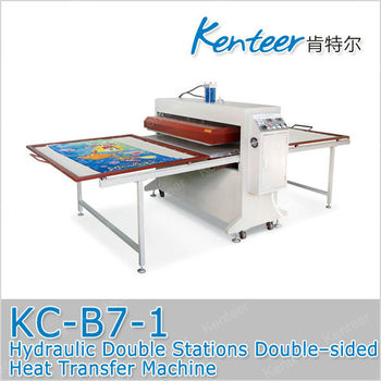 KENTEER-KC-B7-1 Hydraulic Double Stations Double-sided Heat Transfer Machine