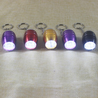 6 LED Aluminium eggs Mini Led keychain Flashlight