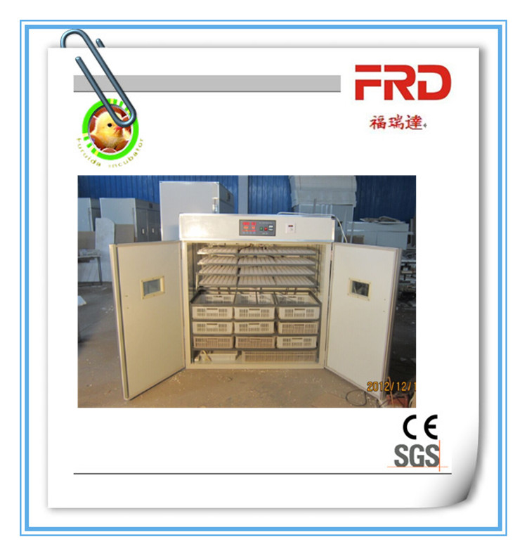 FRD-2112 Automatic half setter half hatcher egg incubator/chicken egg incubator with hatching basket