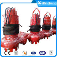 Electric large capacity sewage submersible high head centrifugal pump