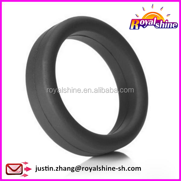 Super quality black soft silicone super ring adult love sex toys