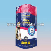 Sea jerky for dog standing zipper plastic bags