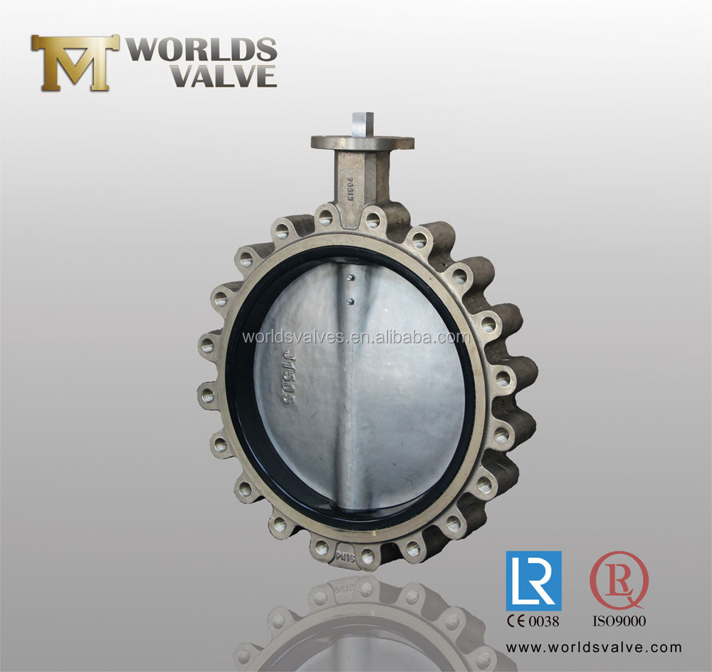 C95400 AL-Bronze Lug type butterfly valve for sea water