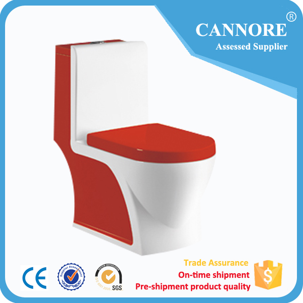 siphonic ceramic one pice toilet new design unique toilet designs red color toilet