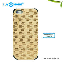 hot wood phone or striped bamboo case plus luxury bamboo cover for iphone 5s