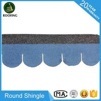 Colorful Round shingle asphalt roof,roofing material with high quality