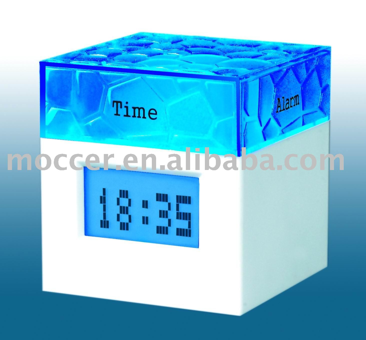 Rotation clock,Four sides clock,Quartz table clock