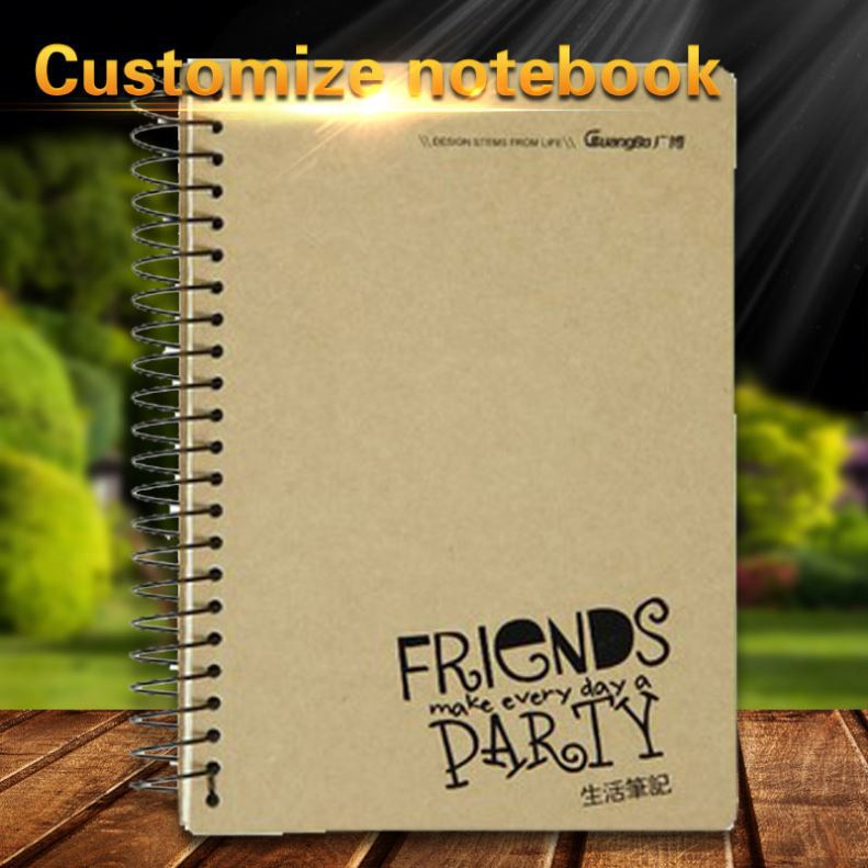 Wholesale students creative writing classical cheap plastic ring paper spiral notebook