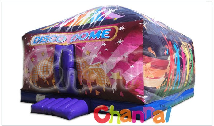 Customized Inflatable disco dome bouncy castle for sale, disco dome inflatable bounce house