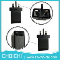 OEM ODM Available UK plug 100% original Electric USB Wall Charger With UK Plug