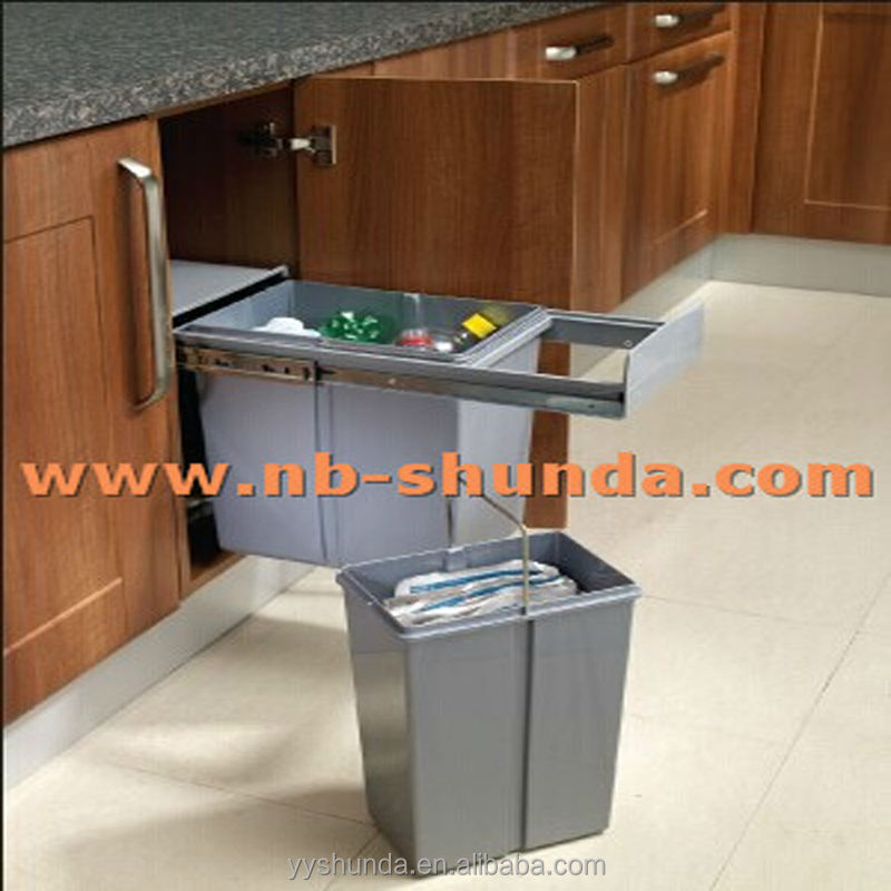 Kitchen cabinet drawer slides bins kitchen cabinet pull for Sliding drawers for kitchen cabinets