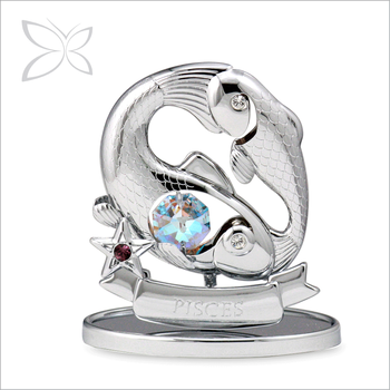 Imperial Trendy Chrome Plated Crystals Pisces Zodiac