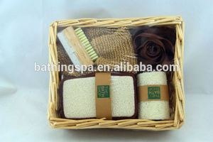 Hot selling wicker basket bath set