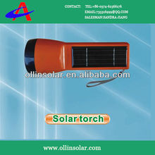 Red Solar Flashlight With Ni-MH battery