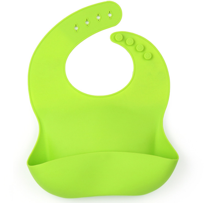 Amazon hot selling washable soft Non-toxic silicone baby boy bib