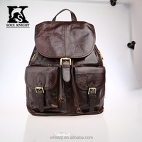 SK-2031 Factory wholesale ladies leather backpacks top grade leather school bags travelling backpacks