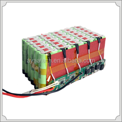 10S6P 37V/20.4Ah Li-ion battery pack for E-BIKE
