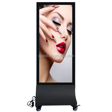 Double Side Aluminium Picture Frame Outdoor Advertisment Display LED Scrolling Free Standing Light Box