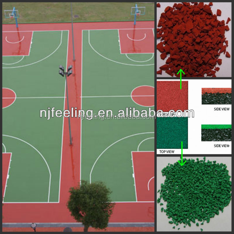 epdm rubber material,tennis court epdm rubber granules. kindergarten playground, turf, rubber and plastic FN-87406